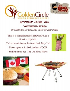 Complementary BBQ @ Golden Circle Senior Resource Ctr | Red Deer | Alberta | Canada