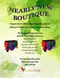 Nearly New Boutique @ Golden Circle Senior Resource Ctr | Red Deer | Alberta | Canada